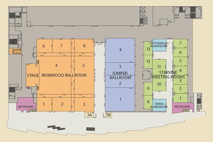 Aria Meeting Room Floor Plans