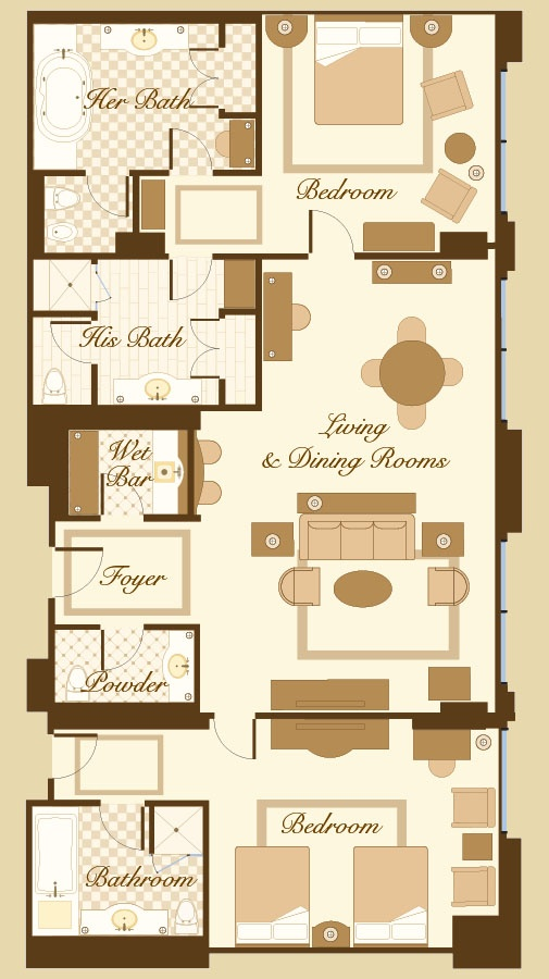 penthouse suite 39 s floorplan see the other penthouse suite 39 s floor