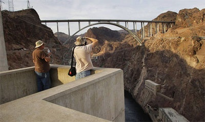 A great view of the Hoover Dam bypass bridge.