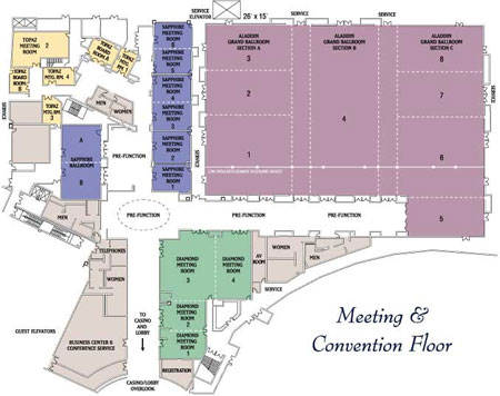 Planet Hollywood Conference Center Las Vegas Convention Centers - Planet hollywood las vegas map