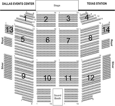 dallas events center seating chart
