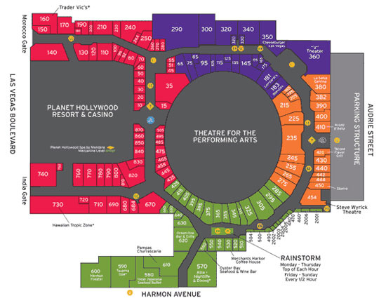 Planet Hollywood Map Las Vegas Virginia Map - Planet hollywood las vegas map