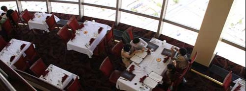 The restaurant at the top of the Stratosphere