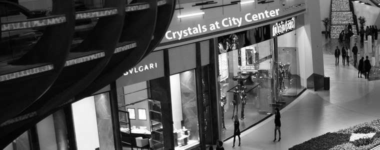 Shopping at Crystals at City Center shopping mall