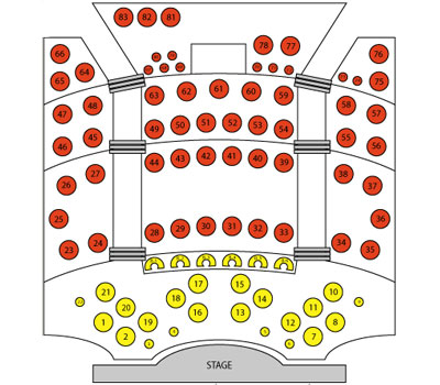 Stratosphere Theater Seating